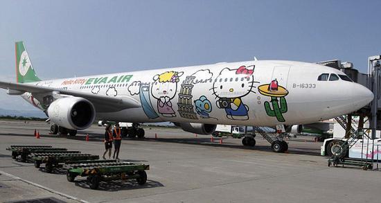 Hello Kitty彩绘飞机(资料图)