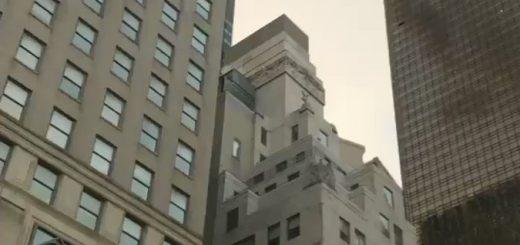 川普大楼着火 逾100名消防员灭火